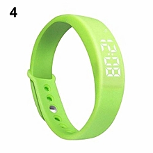 Smart Wrist Watch Pedometer W5 Steps Counter Calories Tracing Sports Bracelet-Green