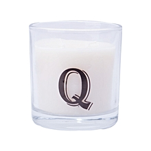 """Letter """"Q"""" Alphabet Scented candle - White"""