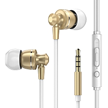 Metal Earphone Universal Ear-in Wire-controlled Earphone