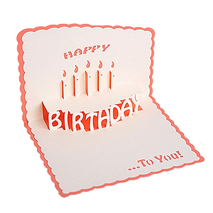 3D Cards Greeting Card Happy Birthday Handcrafted Handmade Paper Cutting