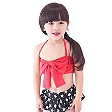 Girls Childs Split Type With Bows Bikini Swimwears New Beach Swimsuits