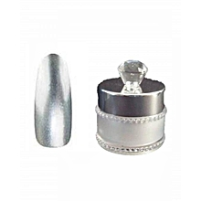 Chrome Powder For Nails - Metallic/Mirror Effect Nail Powder-Silver