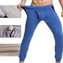 Mens Fleece Lining Thick Warm Tights Pajamas Underpants Long Johns