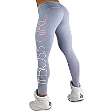 New Style  New Women's Pants Boss Gril Tight Package Hip Printing Yoga  Leggings