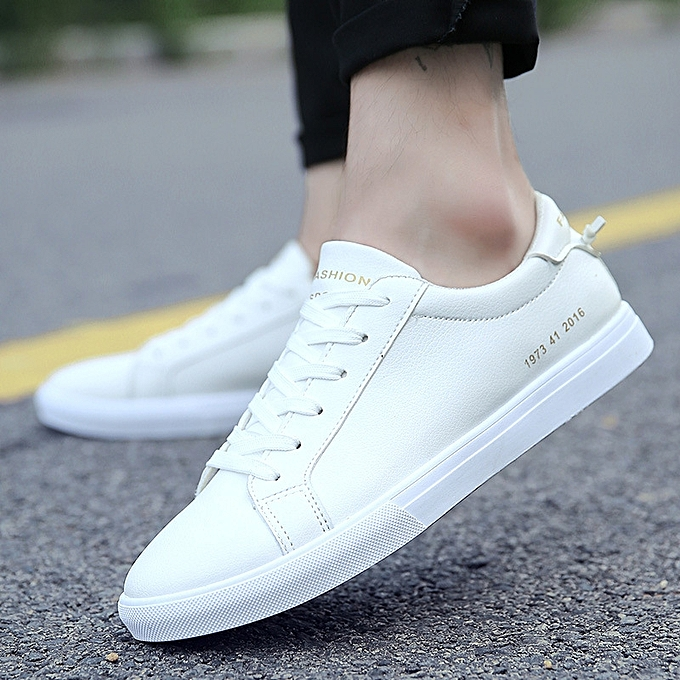 00b5bf61f4 ... Walking Sneakers-white · Mens Canvas Shoes Men Flats Breathable Sneakers  Fashion Brand Flat Shoes Lace-up Mens Leisure