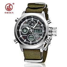 Men Watches Luxury OHSEN Military Sports Watches Digital Canvas Strap Watches Men High Quality Xfcs Wristwatch Relogio Masculino