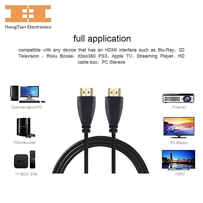 HDMI Cable 1080P High speed Gold Plated Plug Male-Male 1 4 V HD Cables 3FT  9FT 0 3M 1M 2M 3M 5M 7 5M 10M for HD LCD HDTV XBOX ( 5m)