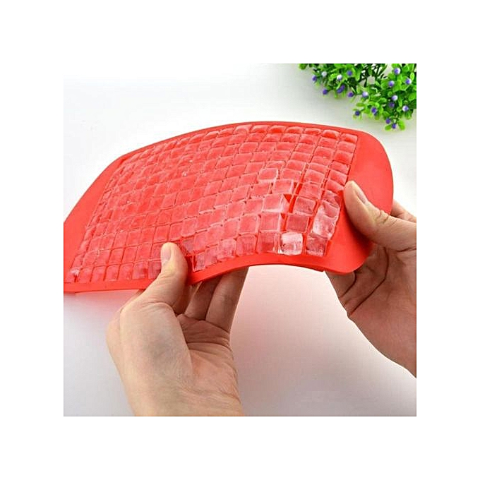 ... Houseworkhu 160 Ice Cubes Frozen Cube Bar Pudding Silicone Tray Mould Mold Tool Red -Red
