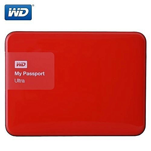 "Generic WD 2TB External Hard Drive Disk Portable HDD HD Harddisk 2.5"" SATA USB 3.0 Storage Container Box For Laptop-Red"