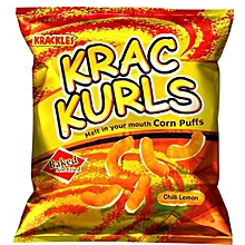 Baked Not Fried Krac Kurls Chilli Lemon Corn Puffs - 25g