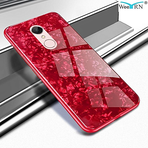 new products c627d a61d0 For Redmi 5 Plus Luxury Hard Tempered Glass Case Marble Shell Pattern  Design Glass Back Cover For Xiaomi Redmi 5 Plus Redmi5 Plus Housing