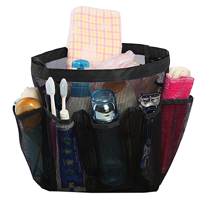 Simple Elegant Portable Quick Dry Hanging Toiletries Cosmetics And Bath Products Organizer With 8 Storage parts Shower Tote Style - Latest Mesh Shower Caddy For Your Home