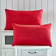 Red fiber filled pillows - 2 Pieces