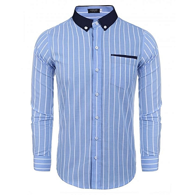 Buy Coofandy S Casual Long Sleeve Pinpoint Contrast Color