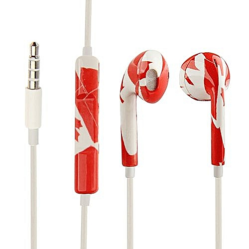 ab060b038e2 Generic Canada Flag Pattern EarPods With Remote And Mic, Random Color &  Pattern Delivery, For IPhone 6 & 6s & 6 Plus & 6s Plus /