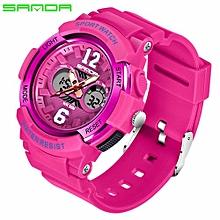 SANDA New Children's Watches Outdoor Sports Children Boys And Girls LED Digital Watch Waterproof Children's Sports Watch 757