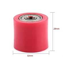 8mm Drive Chain Pulley Roller Slider Tensioner Wheel Guide For Street Bike Motorcycle ATV Red Chain Pulley Roller Slider