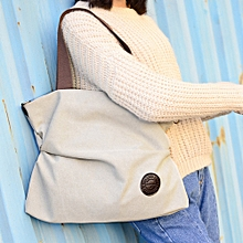 Duanxinyv-Women Canvas Handbag Tote Messenger Beach Shoulder Satchel Bag Beige