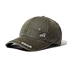Mens Letter Embroidery Cotton Baseball Cap Outdoor Sports Visor Snapback Caps Adjustable