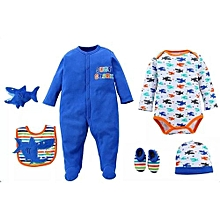 6 Piece set Baby Set  - Blue .