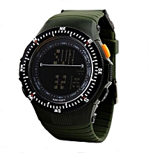 0989 Sports Digital LED Back Light Man Quartz Watch Fashion Outdoor Wristwatch - Urban Camouflage