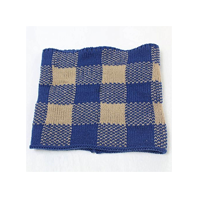 Fashion Hiaojbk Store Women Men Winter Plaid Warm Infinity Cable