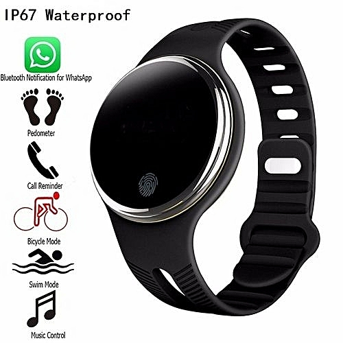 IP67 Waterproof Smart Wristband Health Activity GPS Fitness Tracker  Bluetooth Sync Bracelet Smart Watch - Black Watch Band
