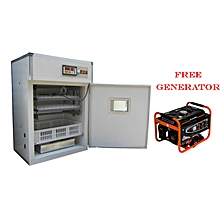 High Efficient Automatic 2112 Eggs incubator,99% Hatch Rate+Free 3000W Generator