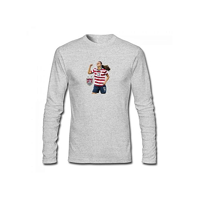 0c87d8ea37e2 Generic Alex Morgan Men's Cotton Long Sleeve T-shirt Grey @ Best ...