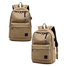 singedanStudent Boy Laptop Backpack School Bag School Backpack Men Woman Travel Bag KH -Khaki