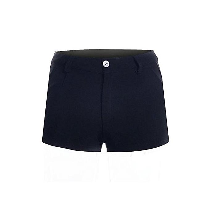 570a3ec0e6 Women Shorts Cotton Casual Summer Ladies Shorts Pants Fashion L16071 Black  (Color:c1)