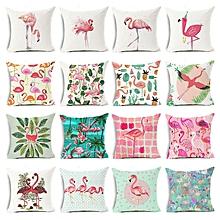 Honana 45x45cm Pillow Case Home Decoration Flamingo Palm Leaf Design 16 Optional Patterns