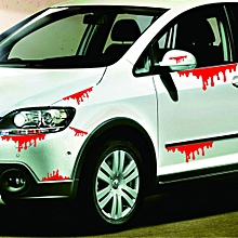 Happy Halloween Car Wall Home Blood Sticker Mural Decor Decal Removable Terror