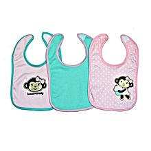 3 Pieces Washable Cotton Bibs