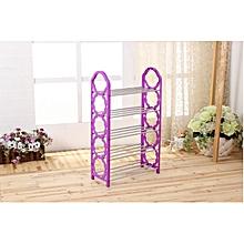 5 Layer Portable Foldable Shoe Rack - Purple