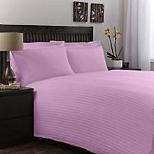 6 Piece 6x6 Pink Superior Quality Satin Stripe Cotton Duvet Cover Set