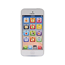 Touch Screen Kid Toy-phone 5S English Learning Mobile - White