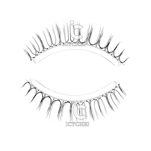 bc4d8528a13 Generic Japanese Natural Style False Eyelashes Makeup Ultra Light Air Lashes  Extension Handmade Soft Upper and Lower Eyelashes(MJ008)