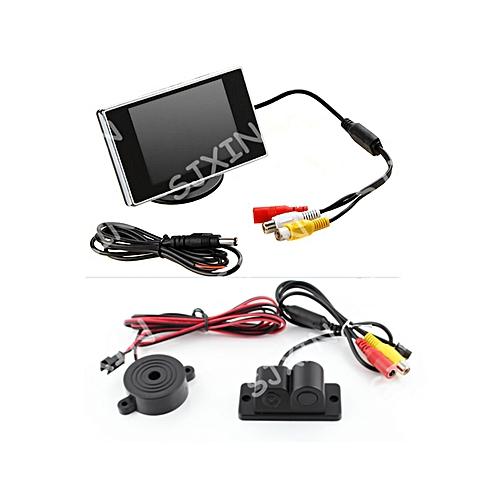 Car 3 5 Inch Color Monitor +Parking Radar Sensor Camera