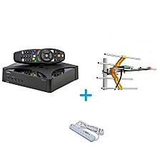 Go TV Digital Decoder - Plus Free Go Tv Aerial - Plus Free Heavy Duty Power Extension