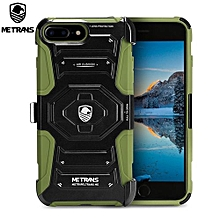 Three-piece Case Anti-knocking Anti-falling Cover For IPhone 7 Plus - Army Green
