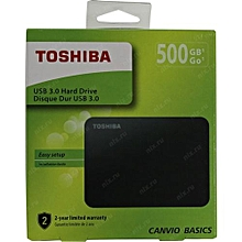 c577dc839 HDTB405EK3AA 500GB Canvio Basics 2.5-Inch USB 3.0 Portable External Hard  Drive - Black