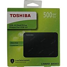 HDTB405EK3AA 500GB Canvio Basics 2.5-Inch USB 3.0 Portable External Hard Drive - Black