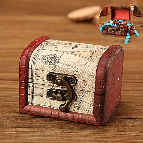9625dc3d14973 Jewelry Box Vintage Wood Handmade Box With Mini Metal Lock For Storing  Jewelry T