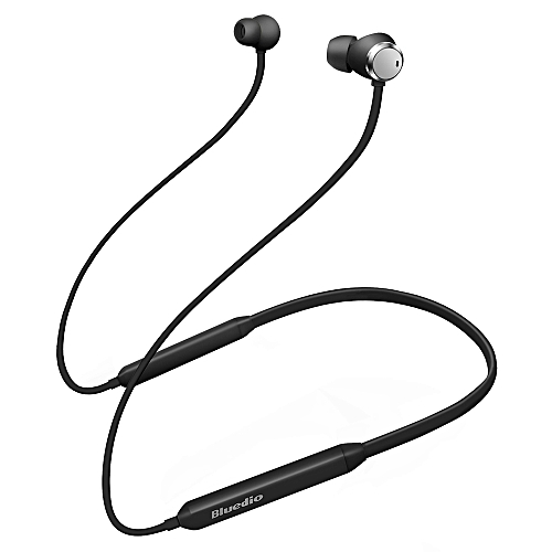 Bluedio TN Active Noise Cancelling Magnetic Earbuds HiFi Bluetooth Earphone with Dual Microphone - BLACK