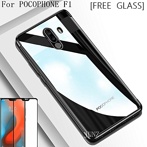 size 40 33b7f c5b40 [Free Tempered Glass]For Xiaomi Pocophone F1 Case Transparent Clear Luxury  Soft Back Cover For Pocophone F1 Casing 168756 c-1 (Color:Main Picture)