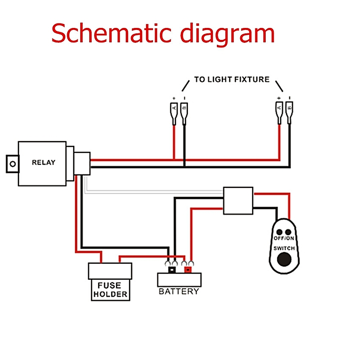 Buy Universal 2 Legs Wiring Harness For Off Road Led Light Rhjumiacoke: Led Work Light Wiring Diagram At Gmaili.net