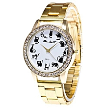 Fashion Luxury Women Quartz Stainless Steel Mesh Belt Wrist Watch Gift