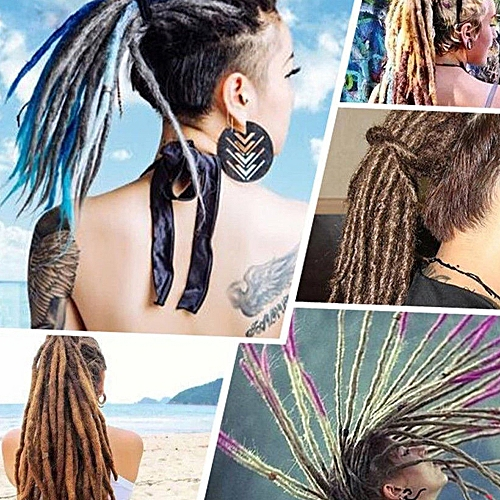 Generic 1 Pack 10 Pcs Handmade Dreadlocks Extensions Fashion Reggae