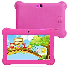 Kids Tablet PC 7 Android 4.4 Case Bundle Dual Camera 1.2Ghz Wi-Fi Bonus Items-Pink